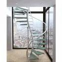 Stylish Stainless Steel Spiral Railing
