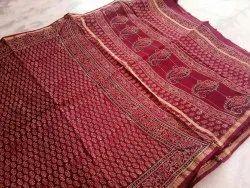 Party Wear Printed Designer Maheshwari Silk Print Saree, 6 m (with blouse piece)