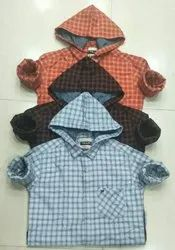 Collar Modern Casual Shirts With Cap