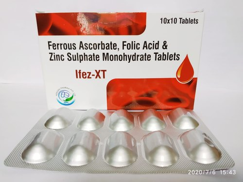 Ferrous Ascorbate Folic Acid & Zinc Sulphate Monohydrate - IFEZ-XT