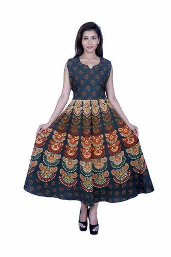 Sleeveless Cotton Indian Ladies Dress a674631d28f5