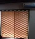 Horizontal Polyester Brown Triple Shade Blinds