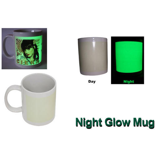 Ceramic Night Glow Printed Mug, Packaging: Box