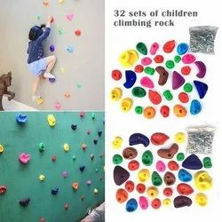 32pcs Plastic Climbing Rock Wall Stones Children Climbing Holds