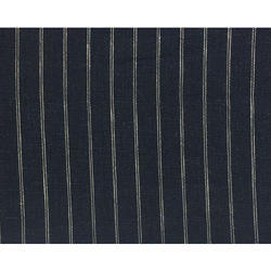 Black Striped Suiting Fabric