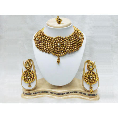 royal wedding bridal pearl buy gram sets plated gold choker south indian set style one detail jewellery product