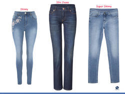 Ladies Blue Stretchable Denim Jeans