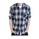 Mens Cotton Casual Check Shirt