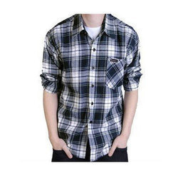 Mens Cotton Casual Check Shirt, Size: M, L and XL