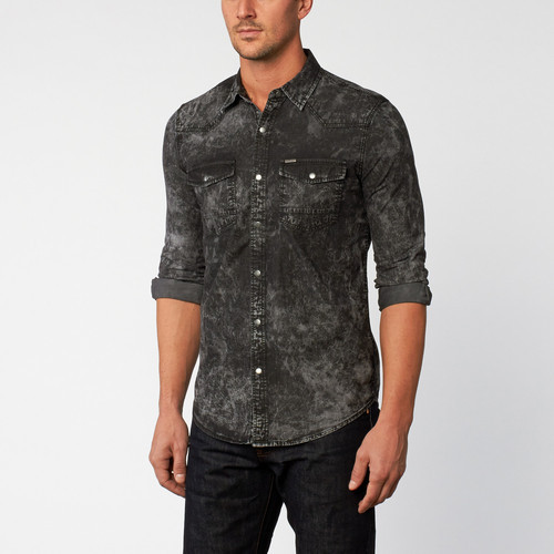 7402a00b45 Denim Charcoal Mens Casual Shirt