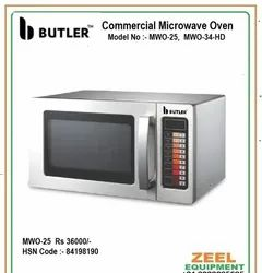 Stainless Steel Square Commercial Microwave Oven, For Restaurant, Capacity: 25 Ltr