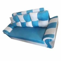 Blue and White 3 Seater Modular Sofa, 5 Inch, Warranty: 1 Year