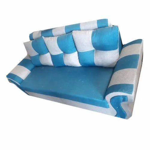 Blue and White 3 Seater Modular Sofa, 5 Inch, Warranty: 1 Year