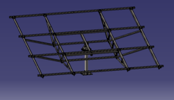 Akura Steel Single Pole Solar Panel Mounting Structure For 8 Panels As Pe The Design Id 15490527530