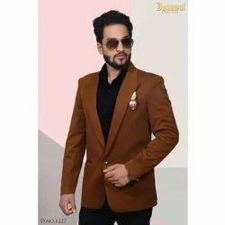 Banawat Plain Mens Brown Designer Blazer
