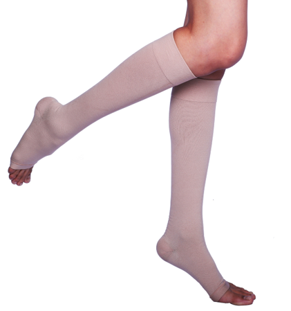 332b052a4a Sorgen Microfiber CLASS I Knee Length Compression Stockings For Varicose  Veins, Size: S/