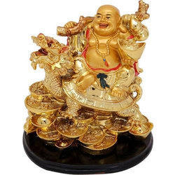 Feng Shui Laughing Buddha with Dragon for Power