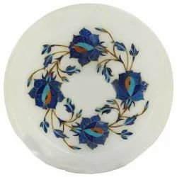 Top Quality Round Marble Inlay Table Top