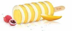 Spiral Mango And Litchi Ice Cream