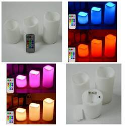 Wax Remote Controlled LED Candles
