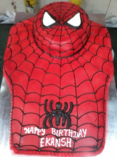 Awesome Spider Man Kids Birthday Cake Packaging Type Carton Box Rs 1000 Personalised Birthday Cards Paralily Jamesorg