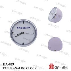 Giftmart White Table Analog Clock, Shape: Round