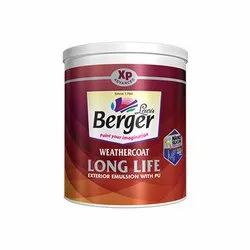 High Gloss Berger Weathercoat Exterior Emulsion Wall Paint, Packaging Type: Bucket