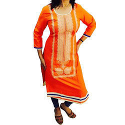 Cotton Ladies Embroidery Kurti