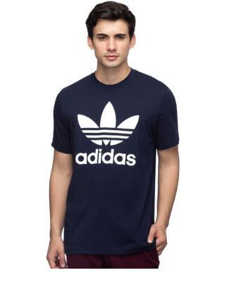 low priced 1bb15 7c14d Legend Ink Round Mens Adidas Originals Trefoil Tee