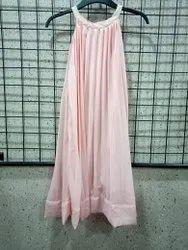 Girls Pleated Halter Dress
