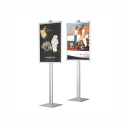 Printed Floor Poster Display Stand, For Advertising
