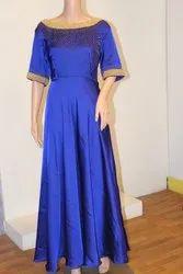 Silk Hand Emberadary Long Dress