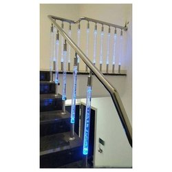 Tempered Glass Stairs Acrylic Staircase Railing