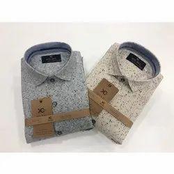 90 ML Cotton Mens Trendy Printed Shirt