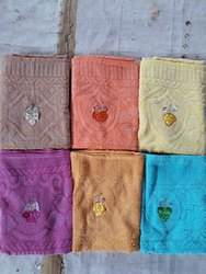 Terry Towels Solid Embroidery 27*54 Inches - 250 GMS