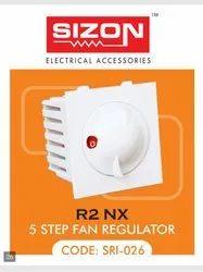 SIZON White Modular Fancy Regulator Socket Type