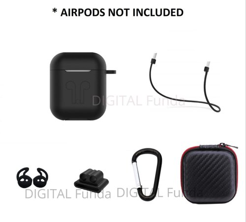 Airpods Silicone Case Cover Full Set
