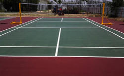 Rubber Badminton Flooring