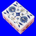 Flower Inlay Stone Painted Marble Box