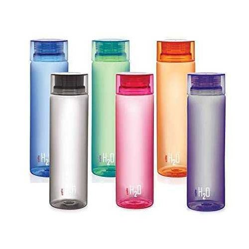 Cello H2O 1 Litre Water Bottle Pack of 2 Green and Pink