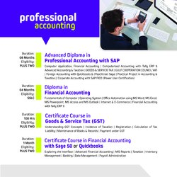 Advanced Diploma In Professional Accounting with SAP