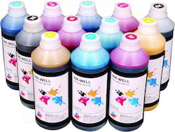 4 Color INK-WELL Dye Sublimation ink, Pack Size: 1 Kg, 100ml