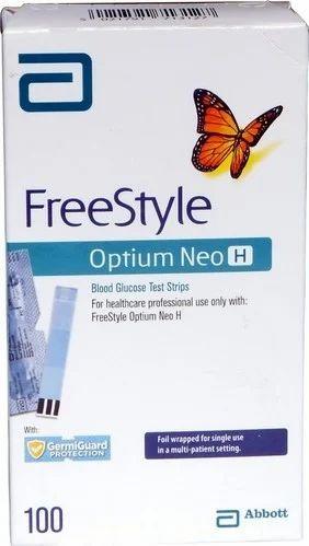 Diabetic Care Products Abbott Freestyle Optium Glucometer Strips