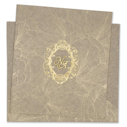 Square Paper Modern Indian Wedding Invitation Card