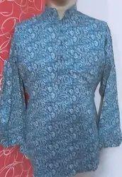 Cotton Kurta Style Shirt