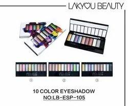 Lakyou Beauty 10 Color Eyeshadow, Box