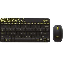 8860a727886 Logitech Mk240 Nano Wireless Mouse And Keyboard With Black And Chartreuse  Yellow Color