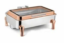 Stainless Steel Chafer Dish W/Water Pan, Food Pan, Fuel Holder and Lid For Buffet