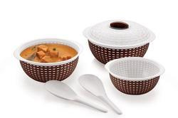 plastic serving set