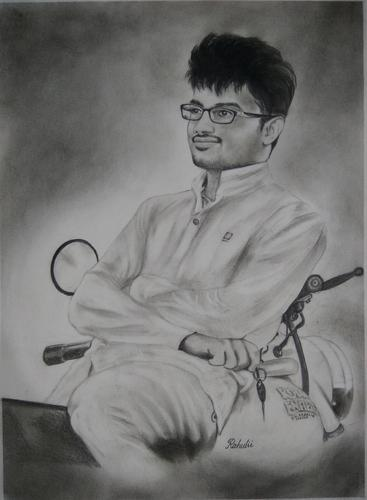 Handmade Pencil Sketch Turn Photo To Portrait Painting